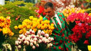 Мужчина в тюльпановом пиджаке