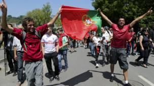 مشجعو البرتغال