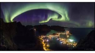أضواء الشمال في جزر لوفوتين