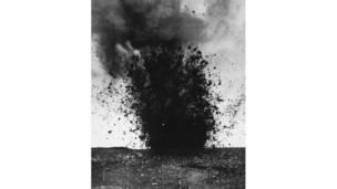 انفجار قذائق ثقيلة خلال معركة السوم.غيتي إيمدج