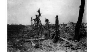 قطاع بابوم-أراس في ساحة القتال بعد المعركة الأولى للسوم.