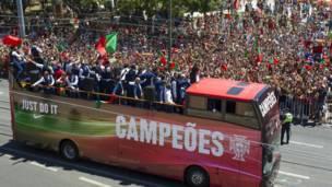पुर्तगाल की टीम का जश्न