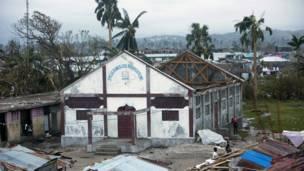 "побережье Гаити разрушено ураганом ""Мэтью"""