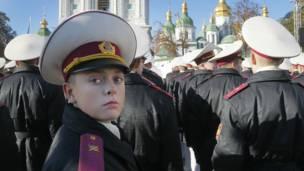 В Киеве прошли два марша