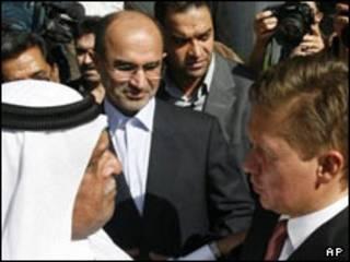 نوذری با  رئیس گازپروم و وزیر نفت قطر