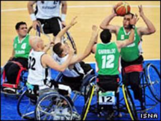 تیم بسکتبال با ویلچر ایران در پارالمپیک پکن
