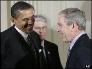 بوش و اوباما