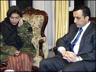 ملیسا فنگ بعداز رهایی با امرالله صالح دیدار کرد