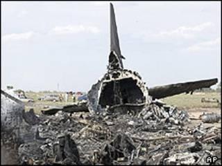 لاشه هواپیمای سقوط کرده