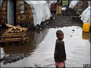 کودک آواره در کنگو