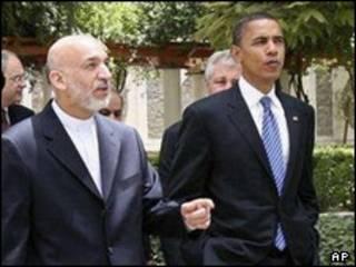 Shugaba Karzai da Obama