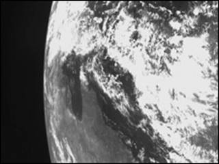 زمین از نگاه چاندرایان 1