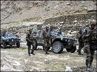 سربازان فرانسوی مستقر درافغانستان