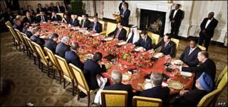ضیافت شام در کاخ سفید