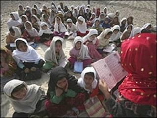 دانش آموزان افغان (آرشیو)