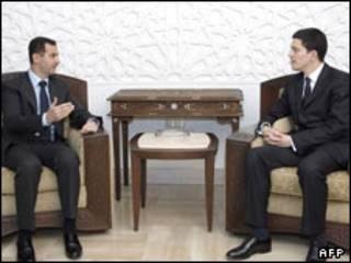 بشار اسد دیوید میلیبند