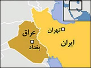 نقشه ایران و عراق