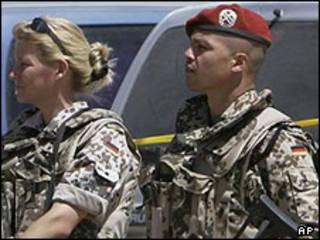 سربازان آلمانی مستقر در افغانستان