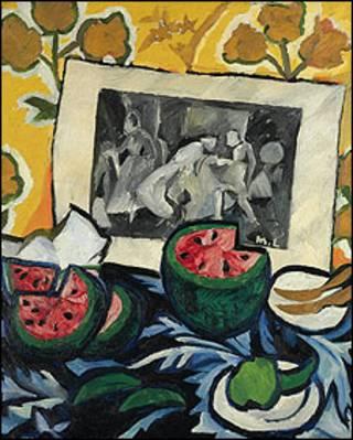 """""""طبیعت بی جان و هندوانه"""" اثر ناتالیا گونچارووا"""