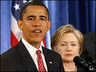 باراک اوباما و هیلاری کلینتون