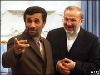 متکی و احمدی نژاد