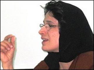 """نسرین ستوده (عکس از سایت """"مدرسه فمینیستی"""")"""