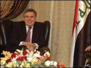 براون در عراق