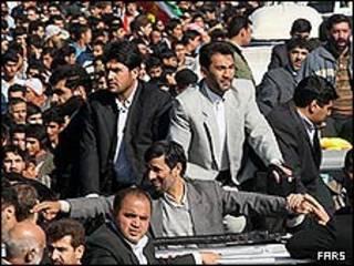 محمود احمدی نژاد در خوزستان