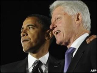 بیل کلینتون و باراک اوباما
