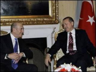 اردوغان و اولمرت