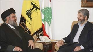 خالد مشعل و شیخ حسن نصر الله