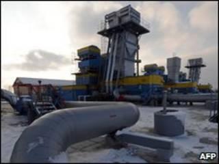 یک مرکز نگهداری گاز در اوکراین