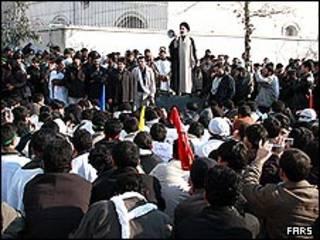 تجمع در برابر سفارت اردن