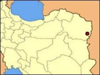 تربت جام در نقشه ایران