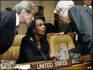 رایزنی وزرای خارجه آمریکا، فرانسه و لبنان در سازمان ملل
