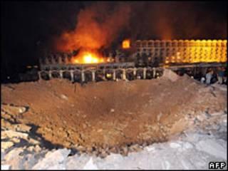 تخریب هتل ماریوت اسلام آباد در حمله تروریستی سپتامبر 2008