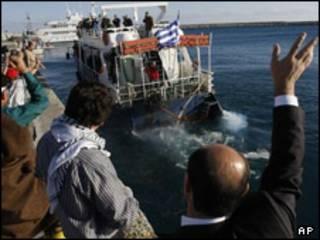 کشتی حامیان صلح برای غزه - بندر لارناکا قبرس