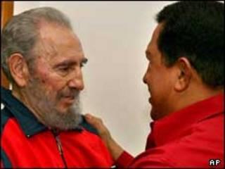 فیدل کاسترو و هوگو چاوز