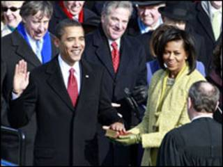 Barack Obama toma posse como presidente