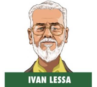 Ivan Lessa en ilustração de Baptistão