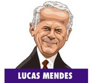 Lucas Mendes em ilustração de Baptistão.