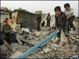 Palestinos em Gaza