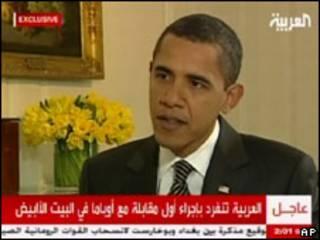 Barack Obama em entrevista à TV Al-Arabiya