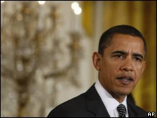 O presidente dos Estados Unidos, Barack Obama, durante discurso na Casa Branca (AP)