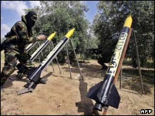 موشکهای دست ساز فلسطینی