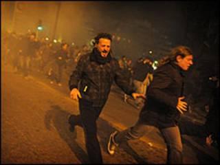 Protestos na Grécia em janeiro