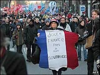 Manifestação em Paris (AP)