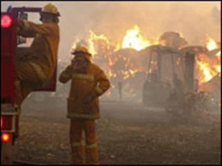 آتش سوزی در جنوب شرق استرالیا