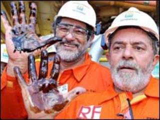O presidente Lula e o presidente da Petrobrás Sérgio Gabrielli