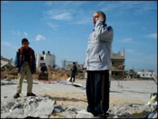 موذن در نوار غزه